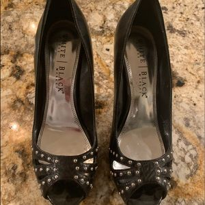 Black with silver studs White House Market Pumps